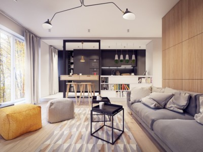 soft-gray-sofa-a-60s-inspired-apartment-with-a-creative-layout-and-upbeat-vibe-modern